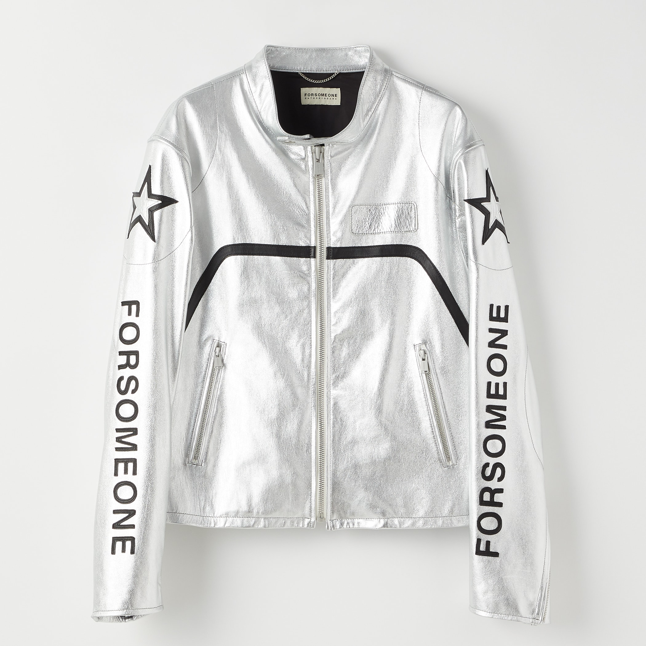 SIGNATURE RACING JACKET 詳細画像 Silver 1