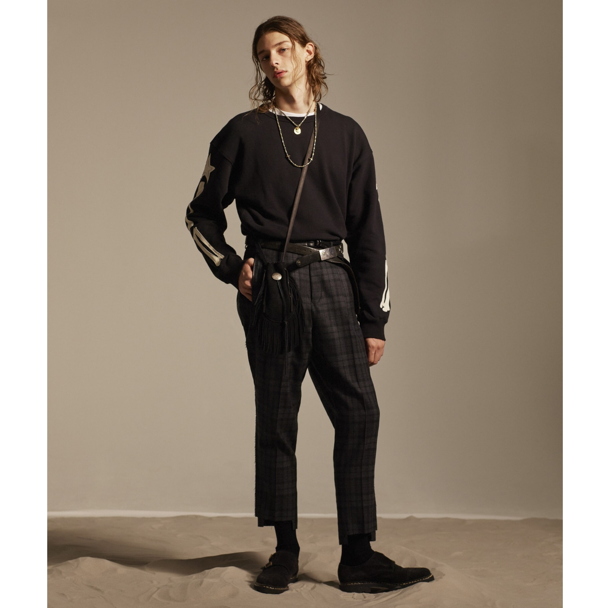 TAILORED TROUSERS 詳細画像 Black 4
