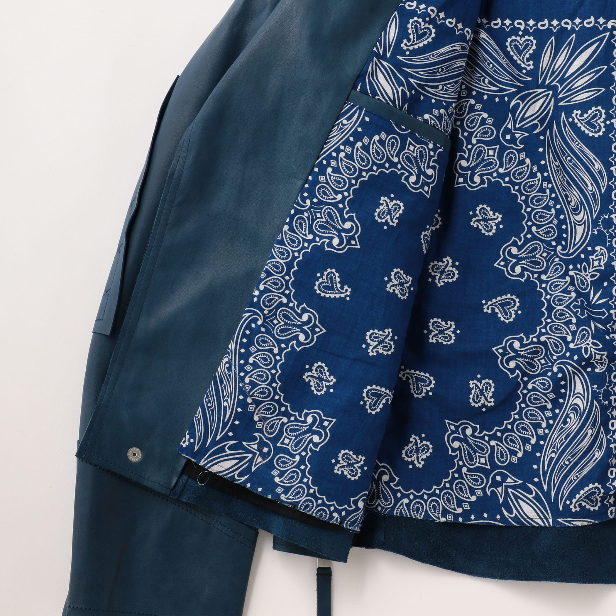 MOTO JACKET COW LEATHER 詳細画像 Indigo 10