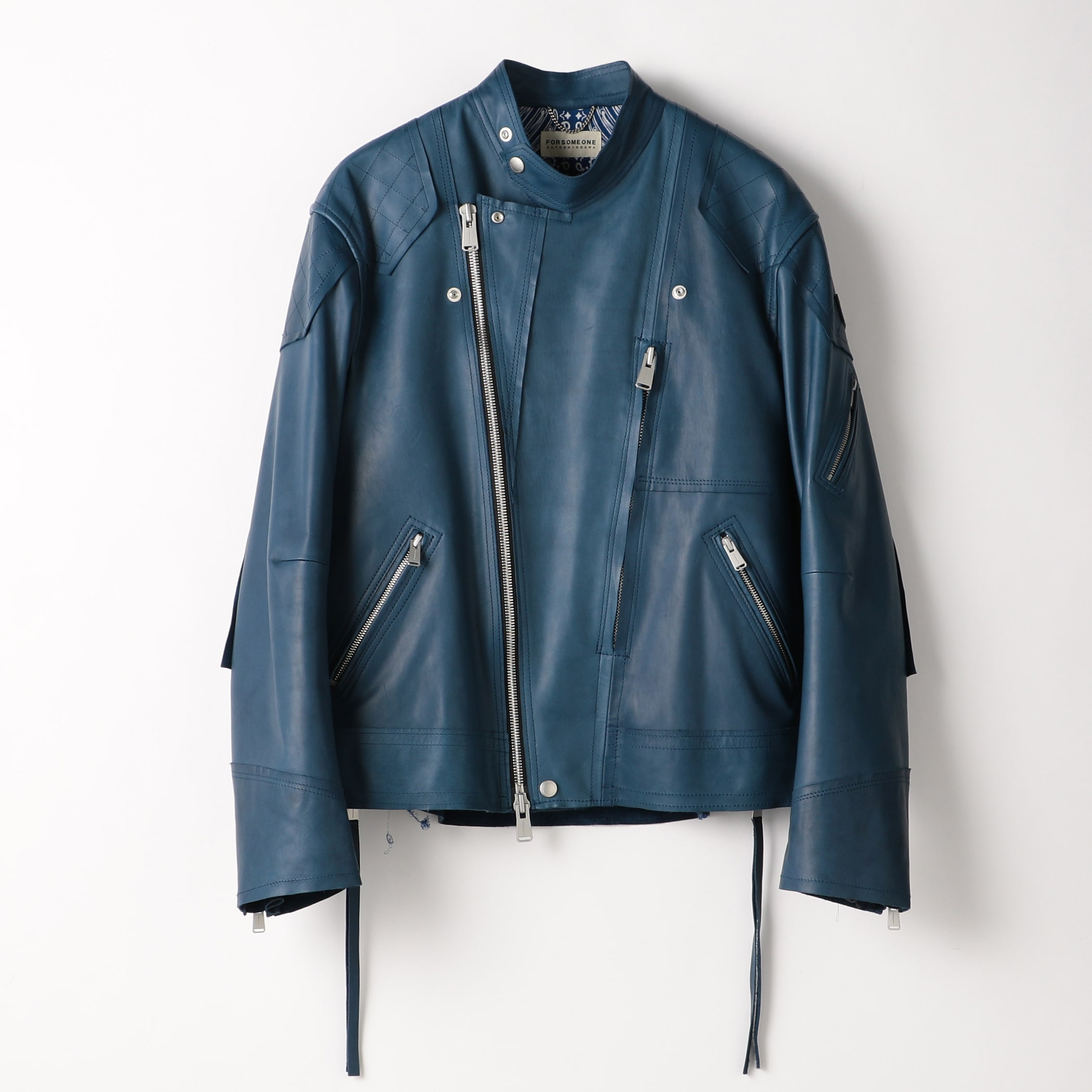 MOTO JACKET COW LEATHER 詳細画像 Indigo 2