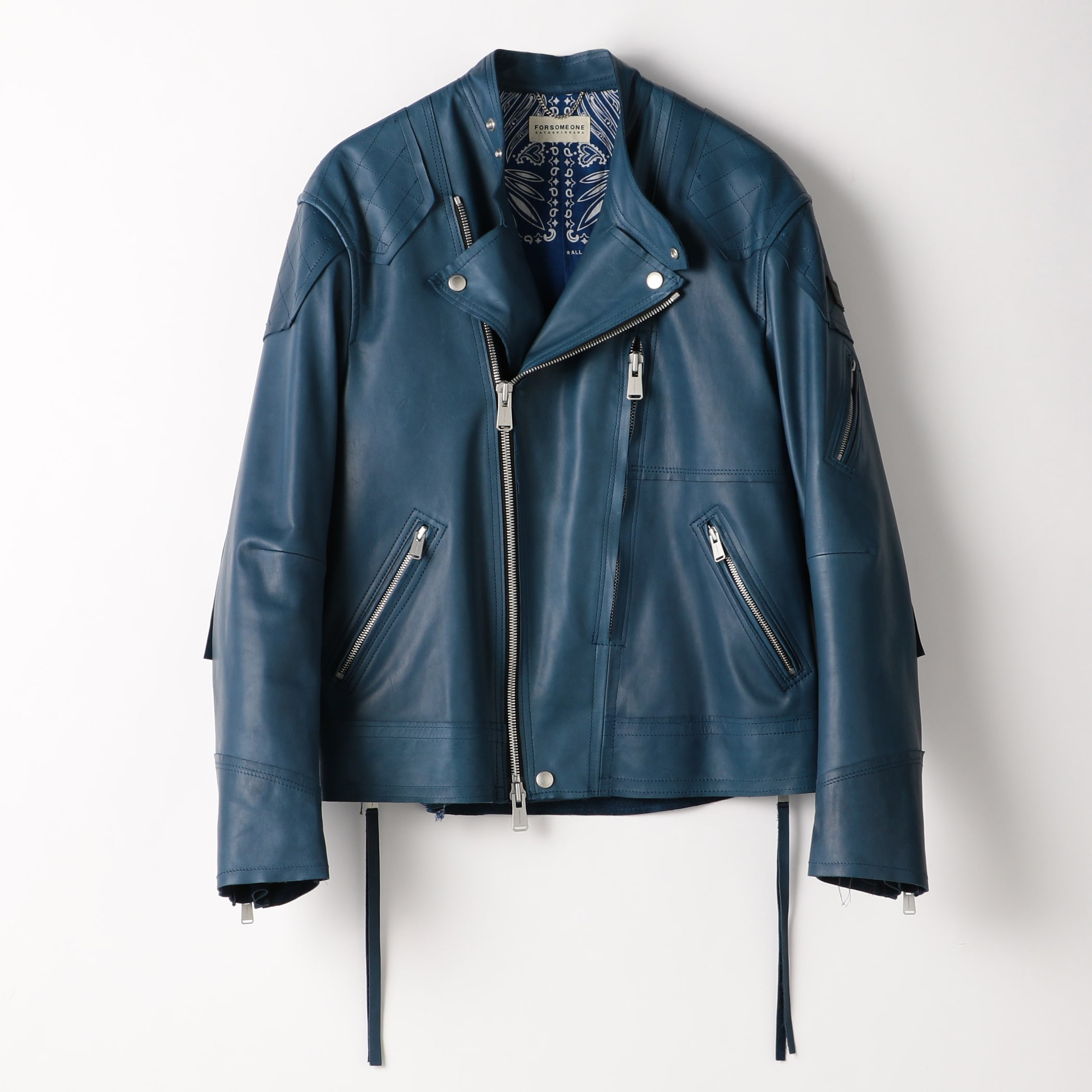 MOTO JACKET COW LEATHER 詳細画像 Indigo 1