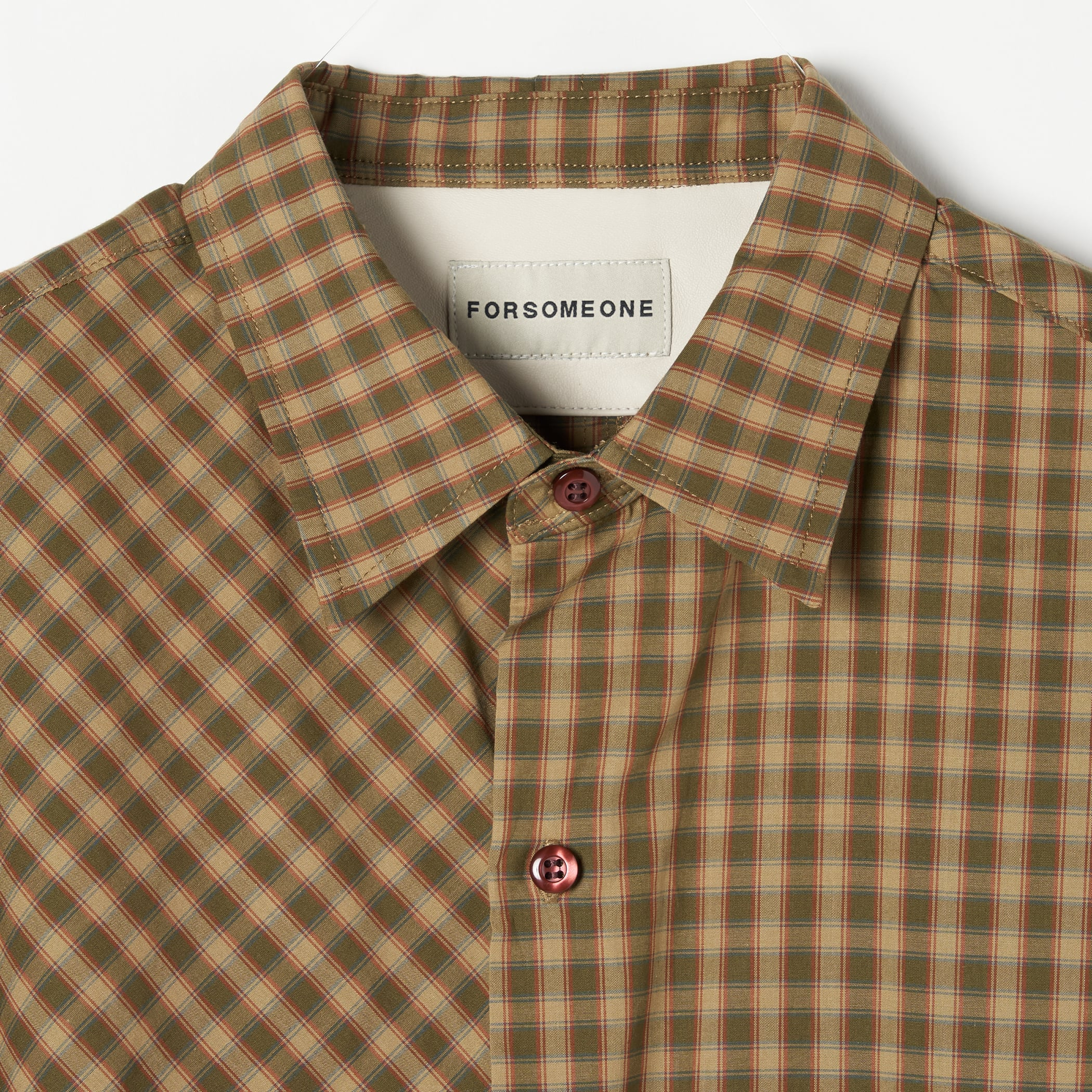 CHECK BROAD SHIRT 詳細画像 Olive 6