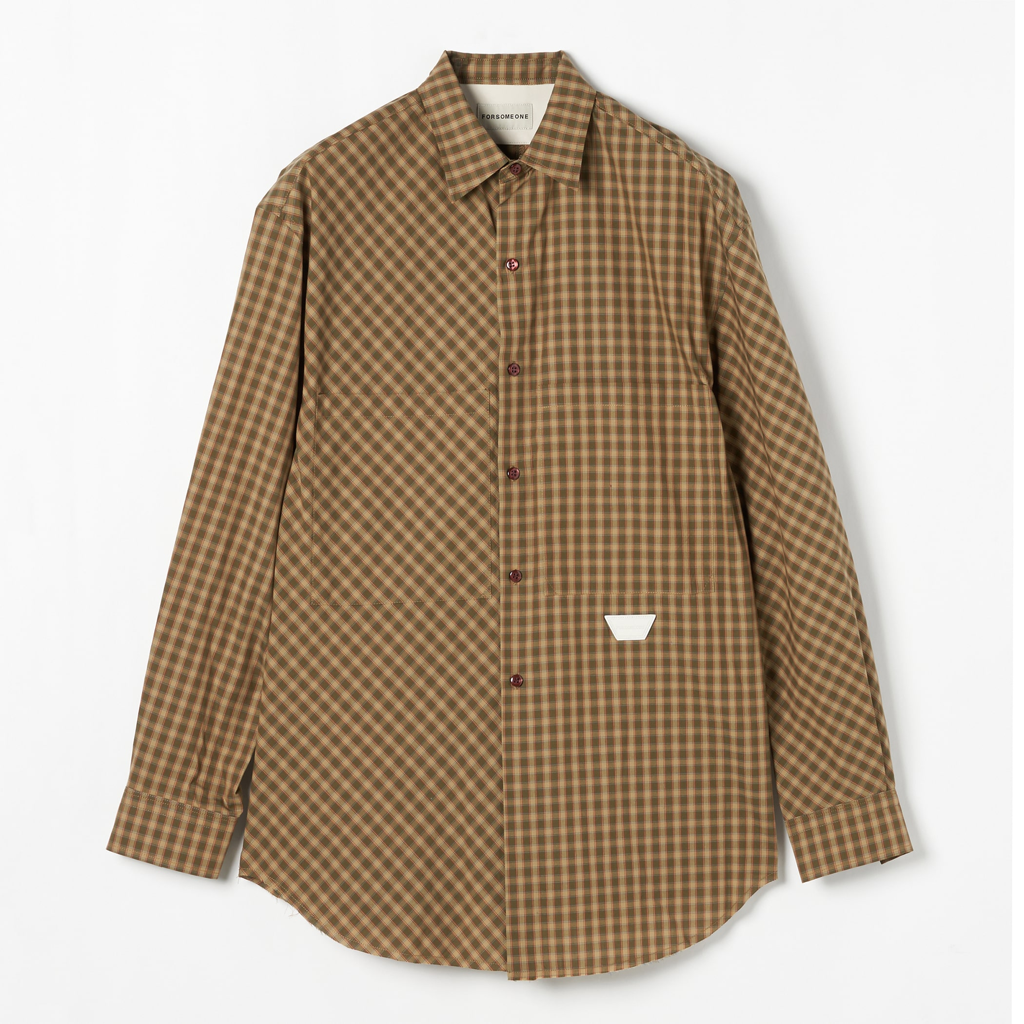 CHECK BROAD SHIRT 詳細画像 Olive 1