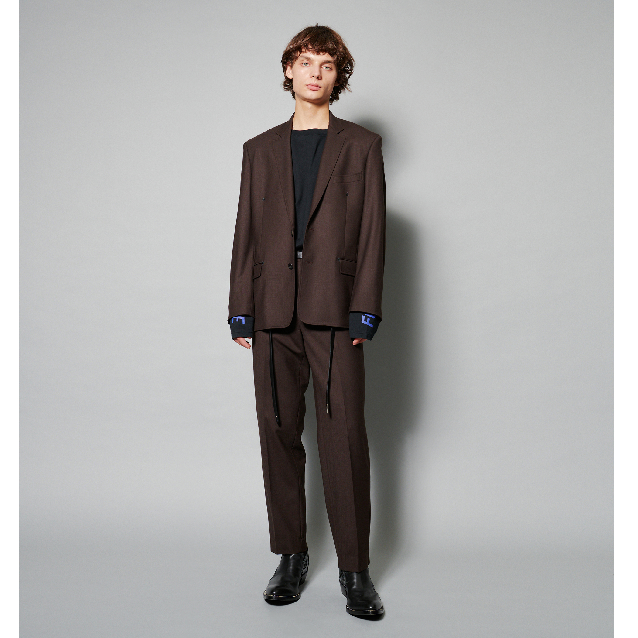 ADAM SUIT SOLID TROUSERS 詳細画像 Brown 6