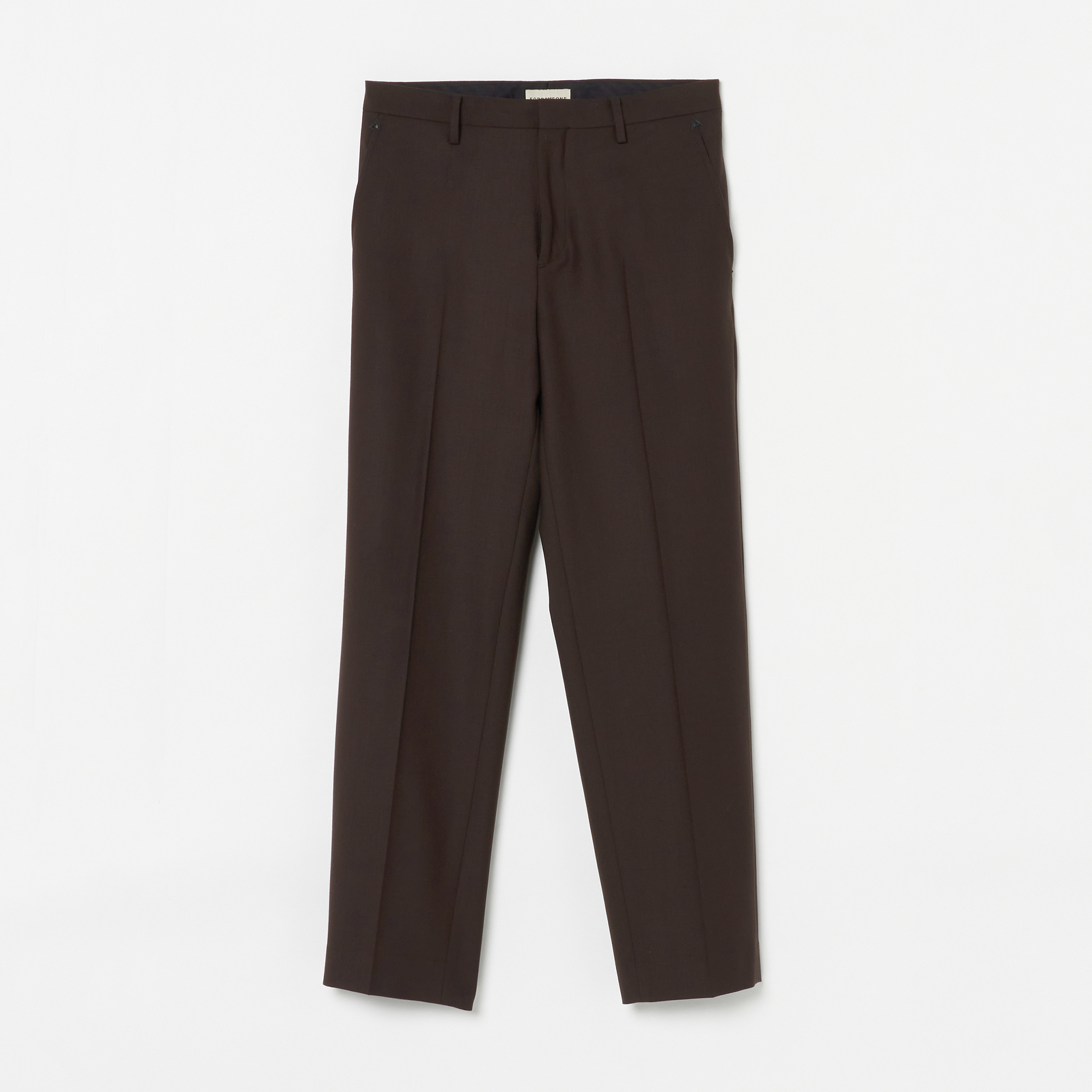 ADAM SUIT SOLID TROUSERS 詳細画像 Brown 1
