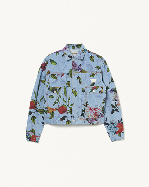 FLOWER TRUCKER JACKET