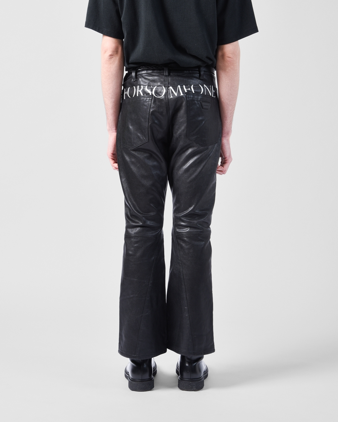 #146 LEATHER TROUSERS 詳細画像 Black 3